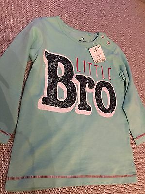 New With Tags Next Boys Little Bro Top 12-18