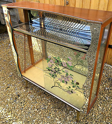 Beautiful Art Deco glass and mirror cabinet, vintage shabby chic!