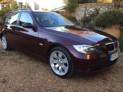 2008 BMW 320d estate, 177bhp, Barbera red, top condition