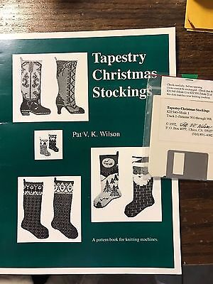 1992 Tapestry Christmas Stockings Pattern Book w/Disk Brother Knitting Machine