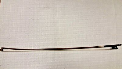 Leon Pique Silver Mounted Violin Bow Stamped Leon Pique