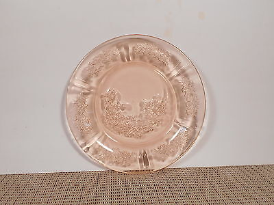 """Federal Depression Glass Sharon Pink/Cabbage Rose Bread Plate 6"""""""