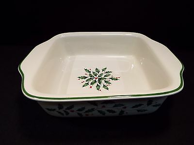 Lenox Holiday Square Baker w/Box **Mint Condition**