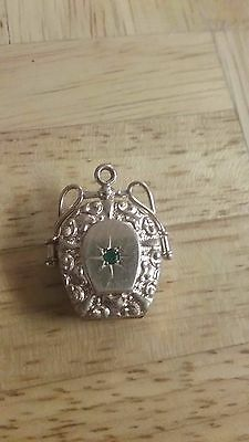 Gold filled Locket with Emerald
