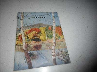 New Hampshire Troubadour Magazine / Booklet October 1939  Free Ship