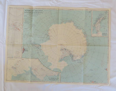 National Geographic Map Antarctic Regions October 1932 (F11)
