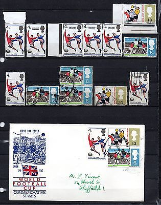 Great Britain 1966 world cup used & unused & F.D.C ,stamps as per scan(2083)