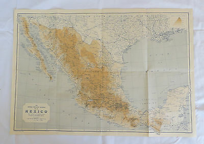 National Geographic Map Mexico July 1916 (F2)