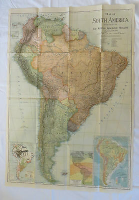National Geographic Map South America 1921 (F19)