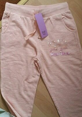 Girls Peach Sequin Tracksuit Bottoms Age 12 - 13 Yrs Bnwt