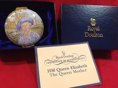 Royal Doulton Copper Enamelled Limited Edition Box - The Queeen Mother