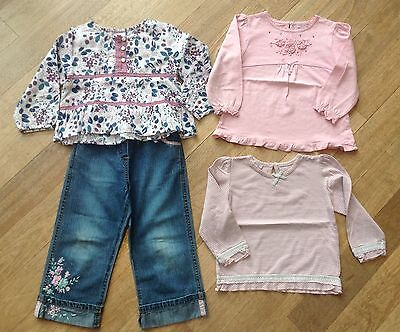 Girls Monsoon Bundle, Matching Tops & Jean Outfit. Age 2-3 Years