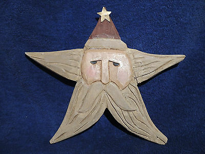 Boyds Retired Jill Stausbaugh Carver's Choice Wooden Ornament, Father Christmas