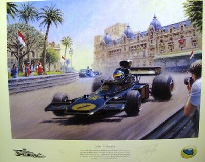 Lotus Victorious Limited Edition Print by Tony Smith