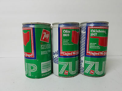 Vintage 7Up United We Stand Six Pack Soda Cans (Empty)
