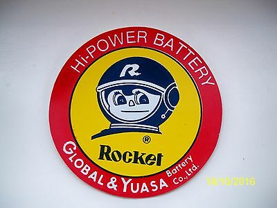 Vintage/Collectable YUASA Motorcycle Battery Sticker