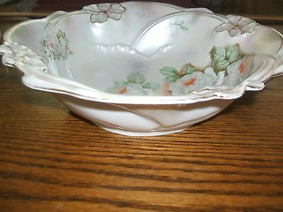 Antique Victorian era late 1891-1900 Porcelain GERMANY Hand-Painted bowl