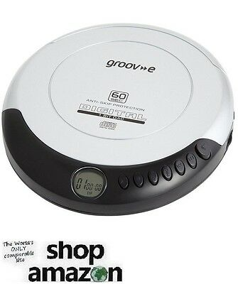 Groove Retro Series Personal CD Player Compact Disc Discman - Silver