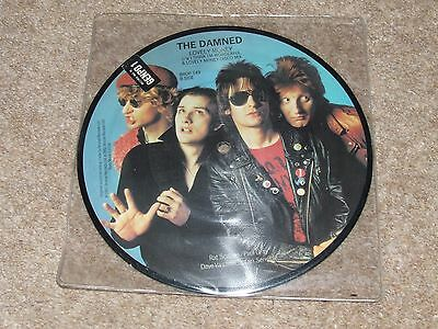 THE DAMNED = LOVELY MONEY  RARE PICTURE DISC VINYL 7inch WITH STICKERED SLEEVE