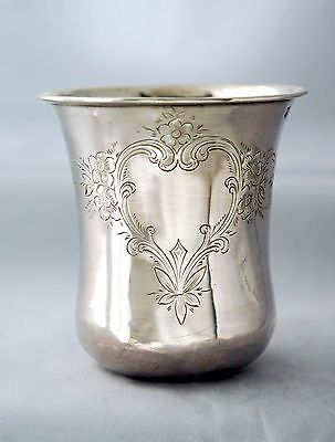 Antique Sterling Silver 950 Beaker Cup (No monogram), France  - 19th century