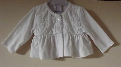 Baby Girl's White Cardigan by Next size upto 1 month New