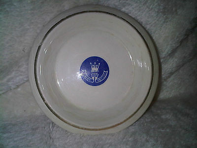 Plate white Wade Orange Stamp , Made in england
