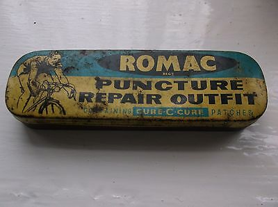 Romac Puncture Repair Outfit tin and some contents