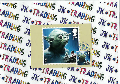 Star Wars Yoda Stamp Single PHQ Maxi Cards Postcard Cancelled Elstree