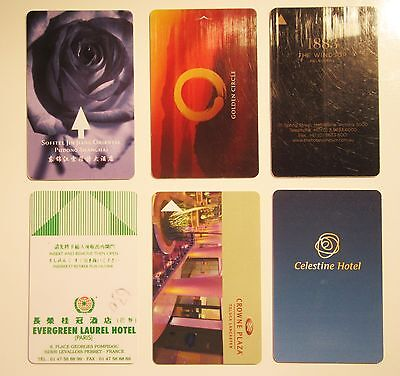Lot of 6 Hotels Rooms Key cards - Luxury International Collection - Collectibles