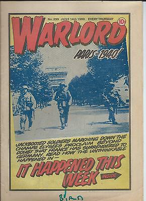 Warlord Comic number 299 , June 14th 1980
