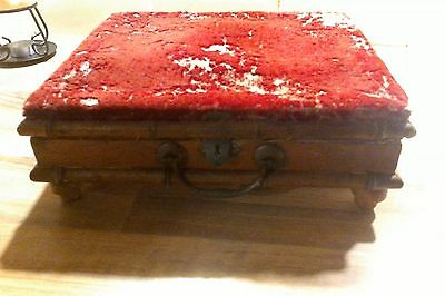 ## Very Rare ## Antique Heated Footstool #  French? #