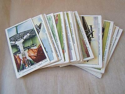 FULL SET of 50 John Player & Sons INTERNATIONAL AIR LINERS 1936 CIGARETTE CARDS