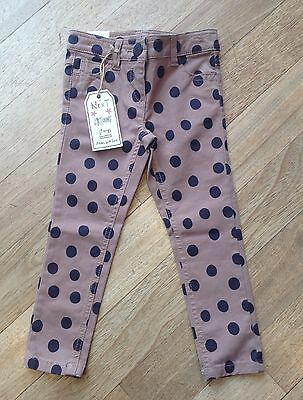 Girls Next Pairs Of Brown & Black Spotty Jeans/ Trousers. Age 3 Years. BNWT