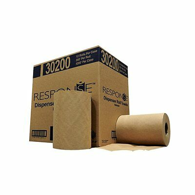 """Response 30200 Hardwound Roll Towel, 350' Length x 8"""" Width,Natural (Case of 12)"""