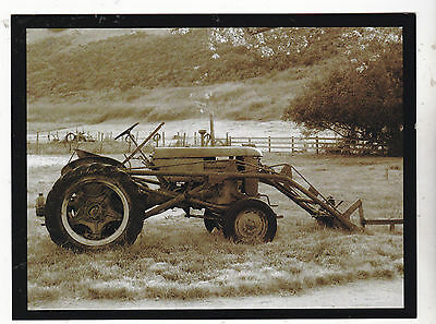 """*Postcard-""""The Old Antique Tractor"""" ...at The Farm-  (#248)"""