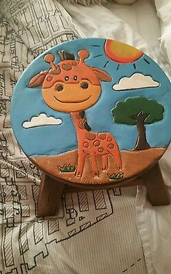 childrens wooden stool