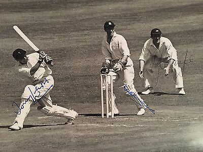 1962 Gents v Players Signed Press Photo by AR Lewis K Andrew & P Sharpe at Lords