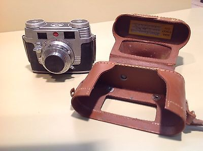 Kodak Signet 35mm Viewfinder Camera w/Leather Case And Lens Cover
