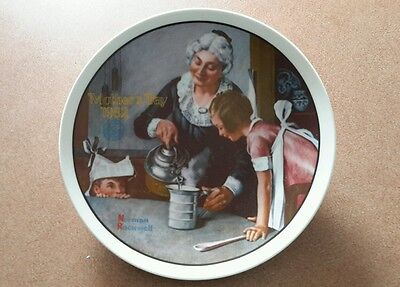 "Edwin Knowles Mothers Day ""The Cooking Lesson"" Norman Rockwell Plate 1982"