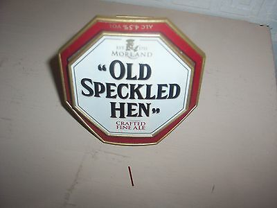 pump clip. Old Speckled Hen