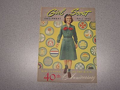 Vintage Girl Scout Fall 1952 Equipment Catalog 40th Anniversary Clothes Badges
