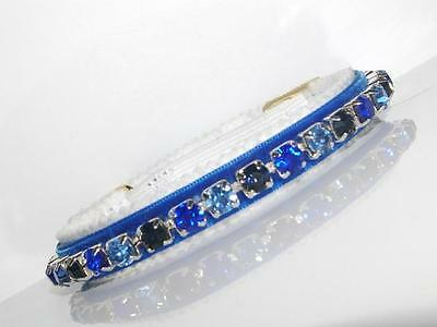 ENCHANTMENT MOODY BLUES made with SWAROVSKI CRYSTAL CAT COLLAR