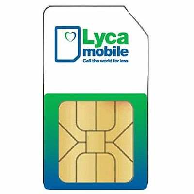 2-TARJETA SIM CARD LYCAMOBILE (nano-sim) ( SPAIN ) ACTIVATED