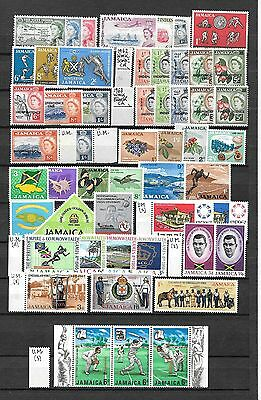 JAMAICA 1958/1970 stamps(110) collection, most MNH