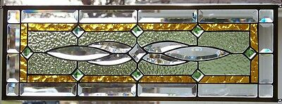 """Stained Glass window hanging 28 X 9 3/4"""""""