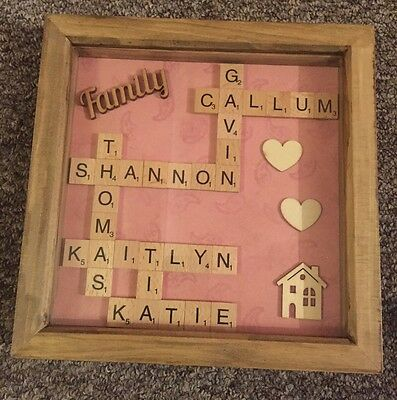 Handmade Family Scrabble Frame (max 8 names) £15 Personalised