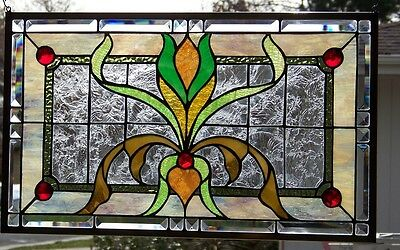 """Stained Glass window hanging 25 X 15"""""""
