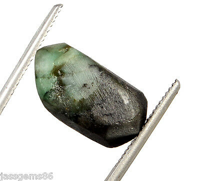 Certified 18.00 CT. Natural Emerald Green Rough Shaped Gemstone S.T NO-16678