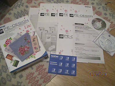PE-Design Lite Software For Brother Home Embroidery Machines-incomplete-gc-boxed