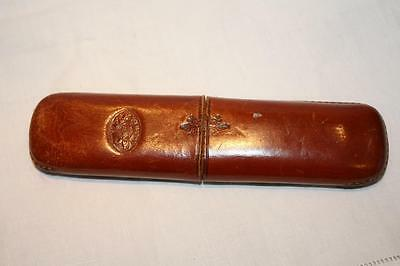 Antique 19th Century English Leather Spectacles Case EXC